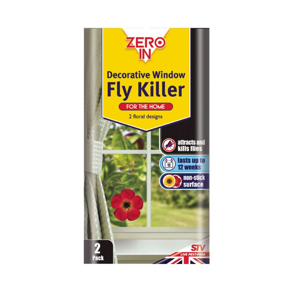 STV Zero In Decorative Window Fly Killer - Twin Pack